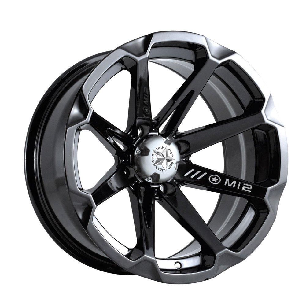 MotoSport Alloys M12 Diesel Gloss Black ATV Wheel UTV Wheel (14x7/4x110)