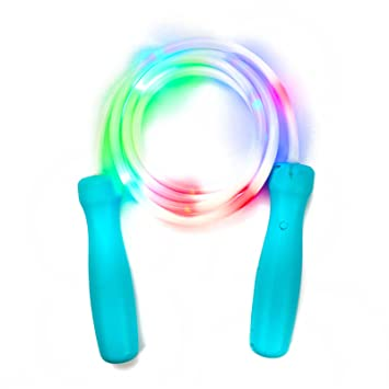 The glow company light up and flashing skipping rope amazon the glow company light up and flashing skipping rope aloadofball Choice Image