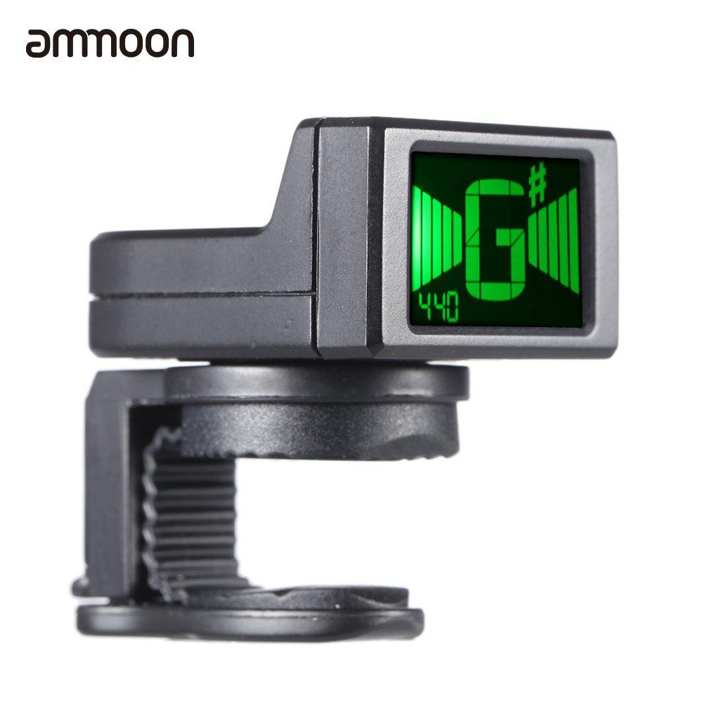 ammoon AT-08 Mini LCD Digital Clip-on Afinador para la Guitarra Eléctrica Acústica Bajo Ukulele Violín Cromática 62-006