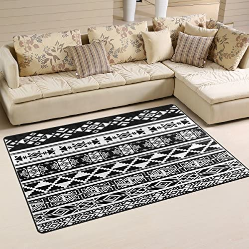 WOZO African and Mexican Aztec American Tribal Area Rug Rugs Non-Slip Floor Mat Doormat