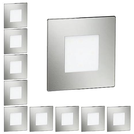 ledscom.de LED lámpara de Escalera lámpara empotrable en la Pared, Angular, 8