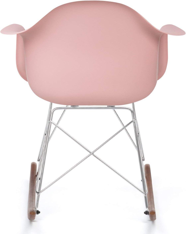 Plus de Couleurs SKLUM Chaise /à Bascule Scand Corail Chrom/é /& Bois Fonc/é