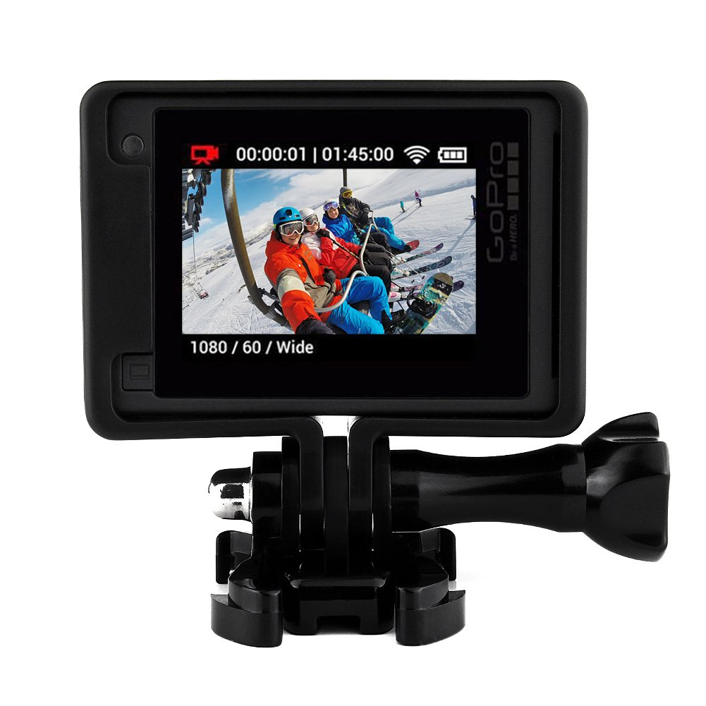 UV Protector de Lente 3 GoPro Hero 4/Marco est/ándar para Protector Caso de Vivienda Carcasa Silicona len Cap para Go Pro Hero 4/3/