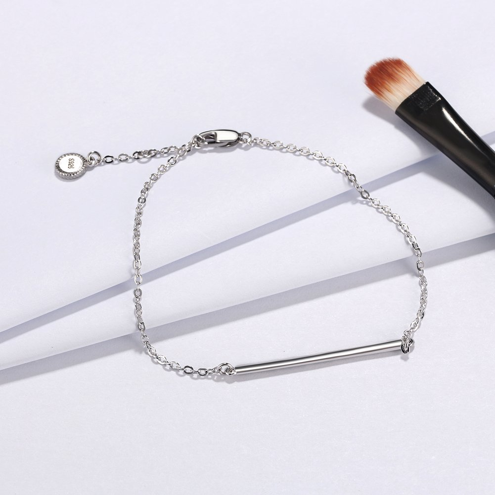 Ginger Lyne Collection Sterling Silver Bar Rolo Chain Bracelet
