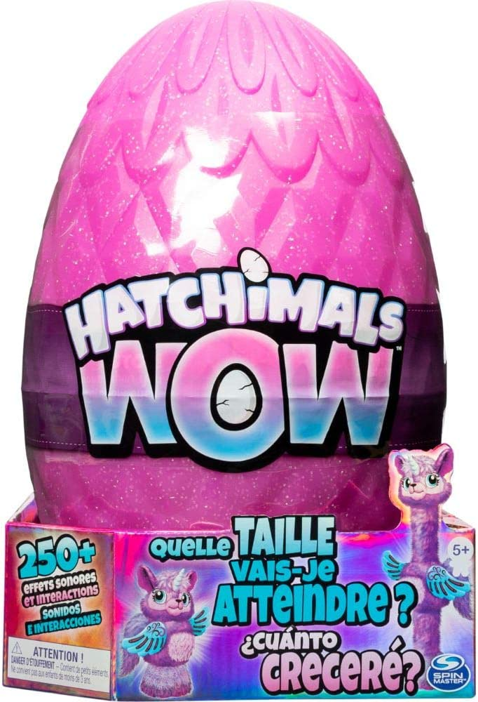 HATCHIMALS 6046989 WOW, Llalacorn 32 Inch (81.3cm) Tall Interactive Hatchimal with Re-Hatchable Egg (Styles May Vary), Multicolour