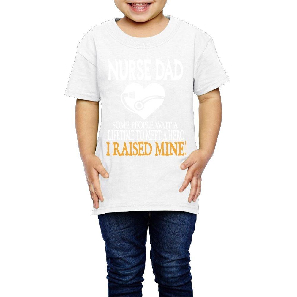 Yishuo Child Nurse DAD Funny Mug Fashion Hiking Tee Short Sleeve White 2 Toddler