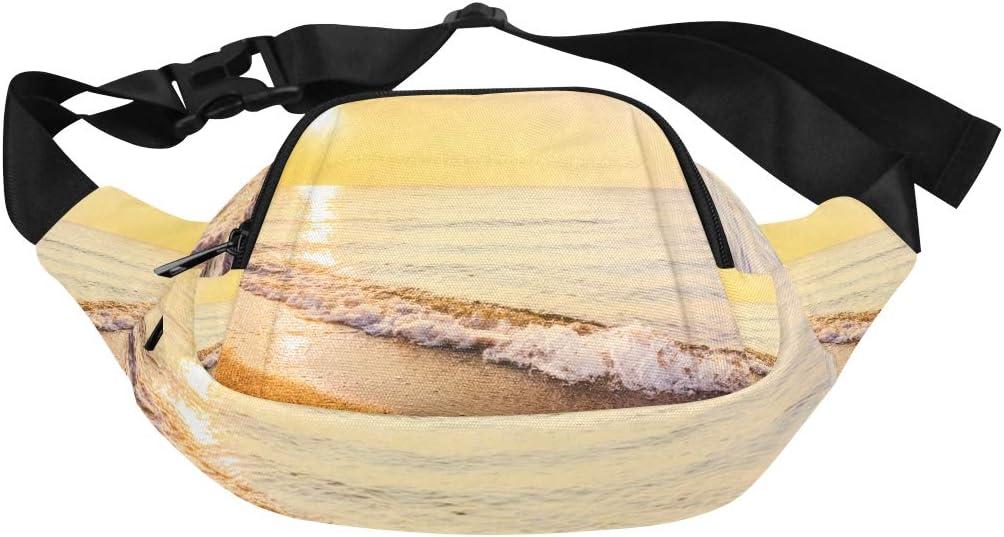 Summer Beach Birds-eye View Paper Style Fenny Packs Waist Bags Adjustable Belt Waterproof Nylon Travel Running Sport Vacation Party For Men Women Boys Girls Kids