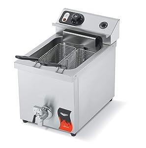 Vollrath (40709) 15 Lb. Medium-Duty Electric Countertop Fryer - Cayenne Series