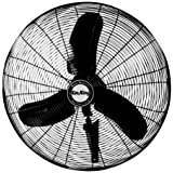 Air King 9071 24-Inch 1/3-Horsepower Industrial Grade Wall Mount Fan, Black Finish