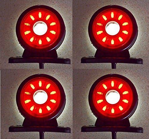 4 X 12V 24V LED FEUX DE GABARIT ROUGE ORANGE BLANC