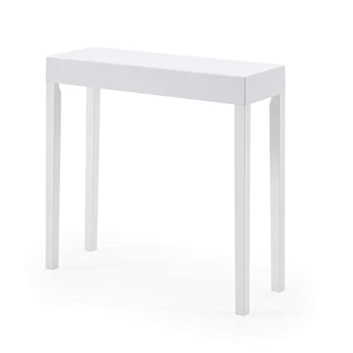 AC Pacific Amy Console Table White
