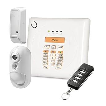 Kit de alarma Wireless A 30 zonas con central DSC wp8010, llamada GSM y tecnología
