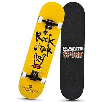 1-1 Skateboard Patineta 4 Ruedas Dibujos Animados Profesional para Niños Principiantes Chicas Muchachos Adolescentes,A: Amazon.es: Deportes y aire libre