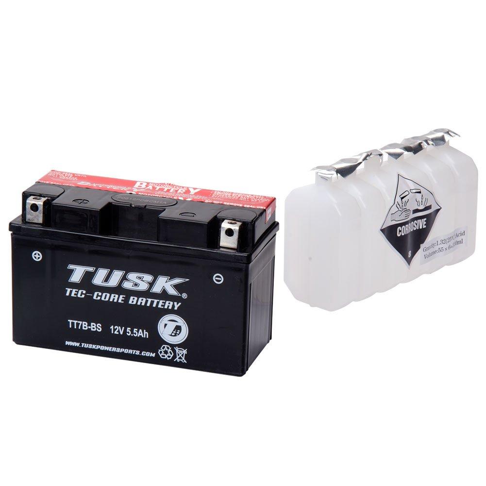 Tusk Tec-Core Battery with Acid TT7BBS Maintenance-Free -Fits: Yamaha YFZ 450 2004-2009