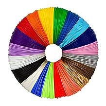 EKIND 3D Pen Filament Refills - 1.75mm PLA Filament Pack of 20 Different Popular Colors (32.8ft Each) Included 4 Glow in the Dark - Plastic Filament for 3D Printing Pen