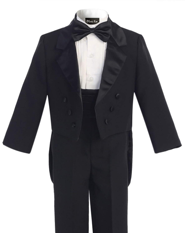 OLIVIA KOO Boys Classic Ring Boy Signature Tuxedo Set with Tail