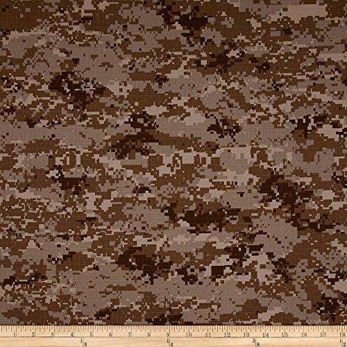 Organic Cotton Ripstop Desert Camo Fabric By The Yard Desert Camouflage Fabric