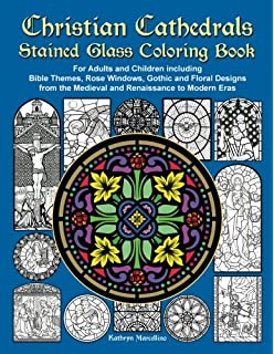 Cathedral Stained Glass Coloring Book Dover Stained Glass Coloring