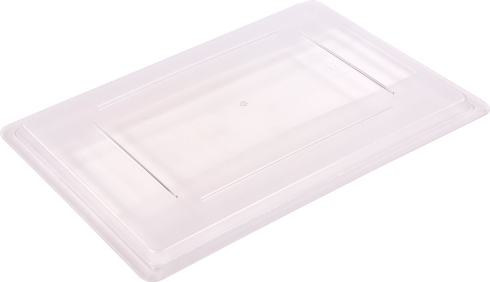 Carlisle 1062707 StorPlus Stackable Food Storage Container Lid Only, 26'' x 18'', Clear (Pack of 6)