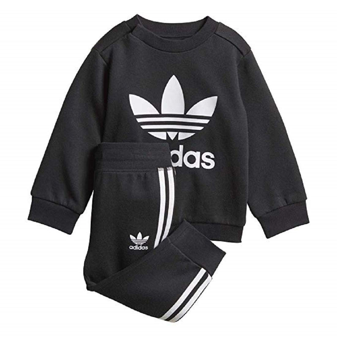 adidas Originals Infant Trefoil Fleece Set (18M) Black/White by adidas Originals