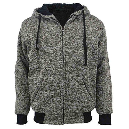 103d1121351 Erin Garments Heavyweight Sherpa Lined Fleece Hoodie Sweatshirts for Men  Winter Full Zip Plus Size Long