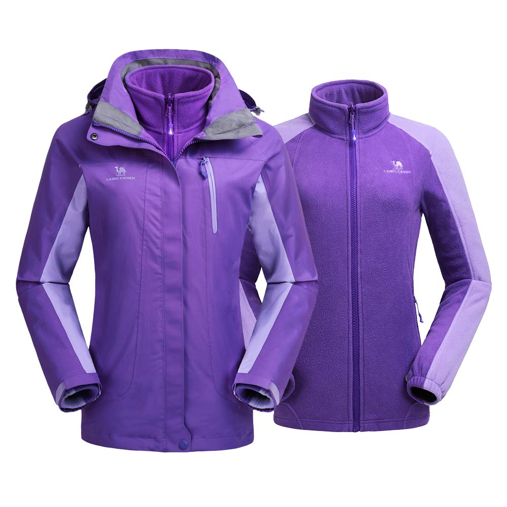 4fdf6b6c2 CAMEL CROWN Women's Ski Waterproof Jacket Fleece Inner Rain Winter ...