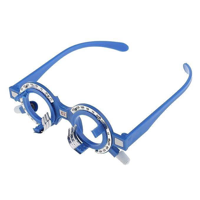 MagiDeal Struttura di Ottica di Prova di Plastica Ottico Lens Telaio Optometria Occhiali Ottico Occhiali da Vista Attrezzatura - Multicolore, 52mm