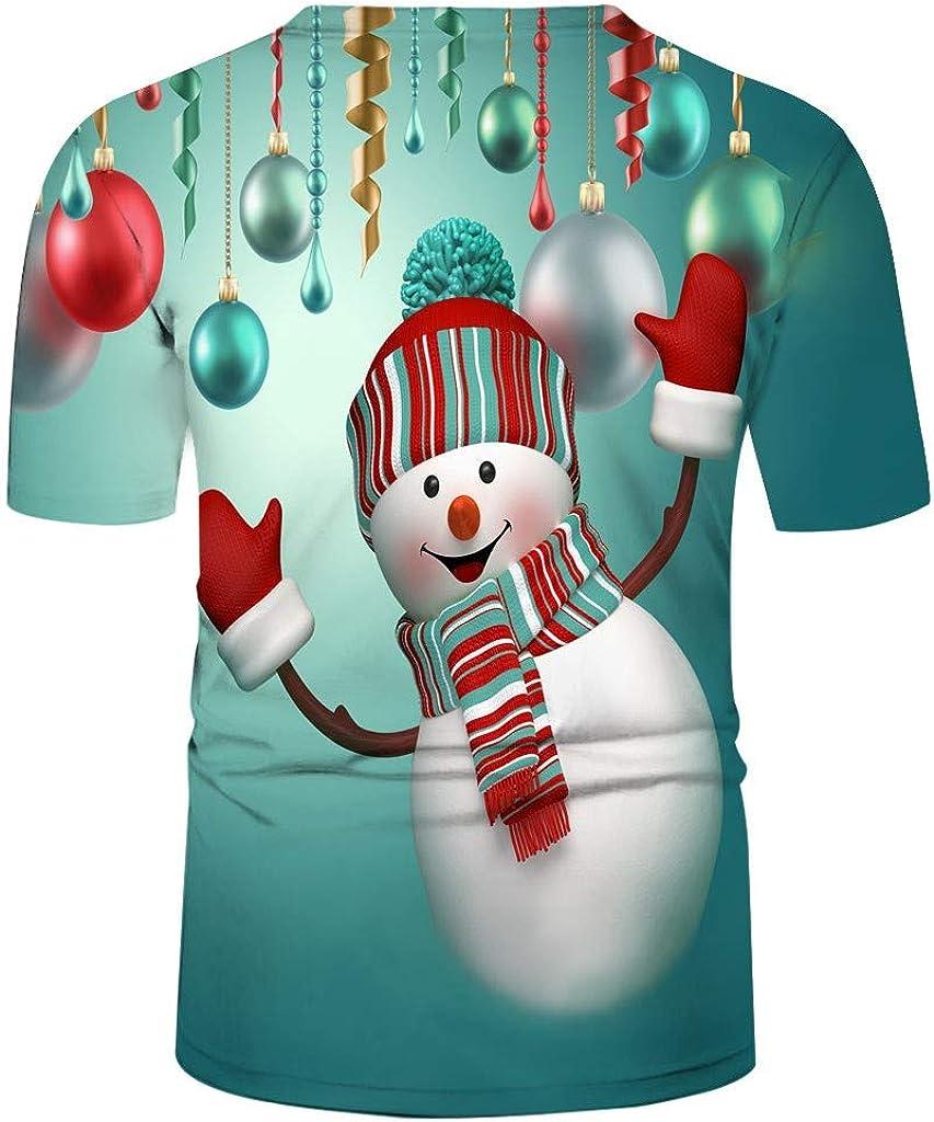 Camiseta Blusa NavideñA para Hombre MuñEco De Nieve Estampado Camisa De Navidad De Manga Corta Blusa Superior Delgada Moda Casual Santa Y Nieve Alces Tops: Amazon.es: Ropa y accesorios