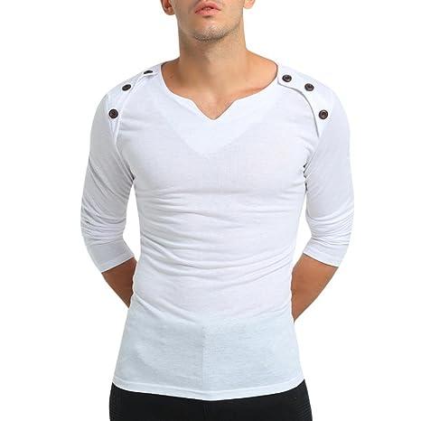 Sonnena Hombre Hombre Camiseta otoño Manga Larga Casual Fashion Ropa de Calle, otoño de Camuflaje