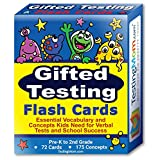 Gifted Testing Flash Cards for Pre-K to 2nd Grade - Practice concepts and vocabulary for CogAT test, OLSAT test, WPPSI test, Stanford Binet, ITBS, NYC gifted and talented, CPS test and dozens more!