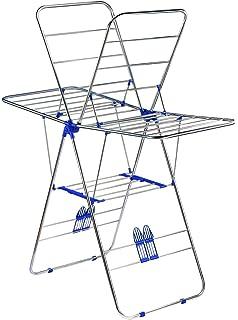 Fl/ügelw/äschest/änder Robustheit von 10 m f/ür W/äsche Silber H x B x T: ca.96 x 157 x 54,5 cm NEUN WELTEN W/äschest/änder aus Edelstahl zusammenklappbar und stabil