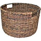 Large dark brown wicker basket Large baskets Large wicker basket- Threshold