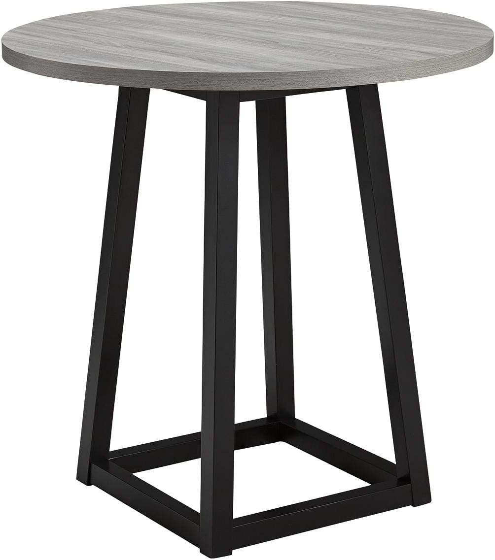 Set of 1 #.Gray//Black Signature Design by Ashley Showdell Round Counter Table,