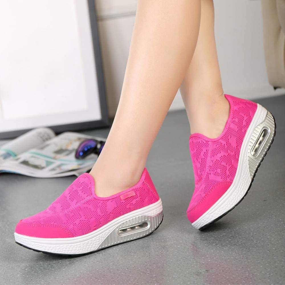 Qingsiy Zapatillas Deportivas de Mujer Gimnasio Fitness Correr ...