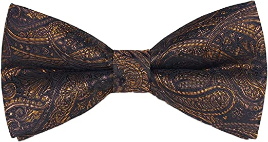 Mens Bow Tie Adjustable Neck Band Necktie Bowties for Weeding Patry