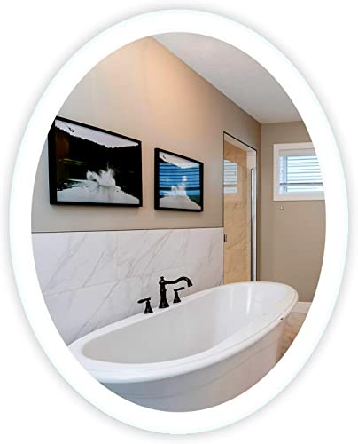 LED Side-Lighted Bathroom Vanity Mirror 32 Wide x 40 Tall