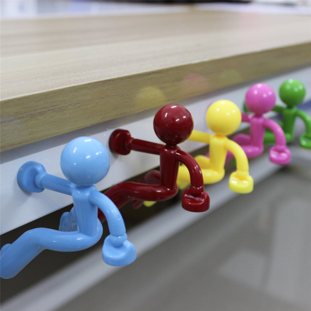 HappyToy 3PCS Key Pete Strong Magnetic Key Holder Hook Rack Magnet Magnetic Man Key hook (Small Thing but Powerful)
