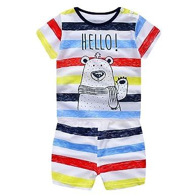 522a46ee Balai Boys Summer Clothes Set Children Cartoon Print T-shirt + Shorts 2  Pacs Baby Boys Tops+shorts Suit Set Kids Short Sleeve Outerwear: Amazon.co. uk: ...