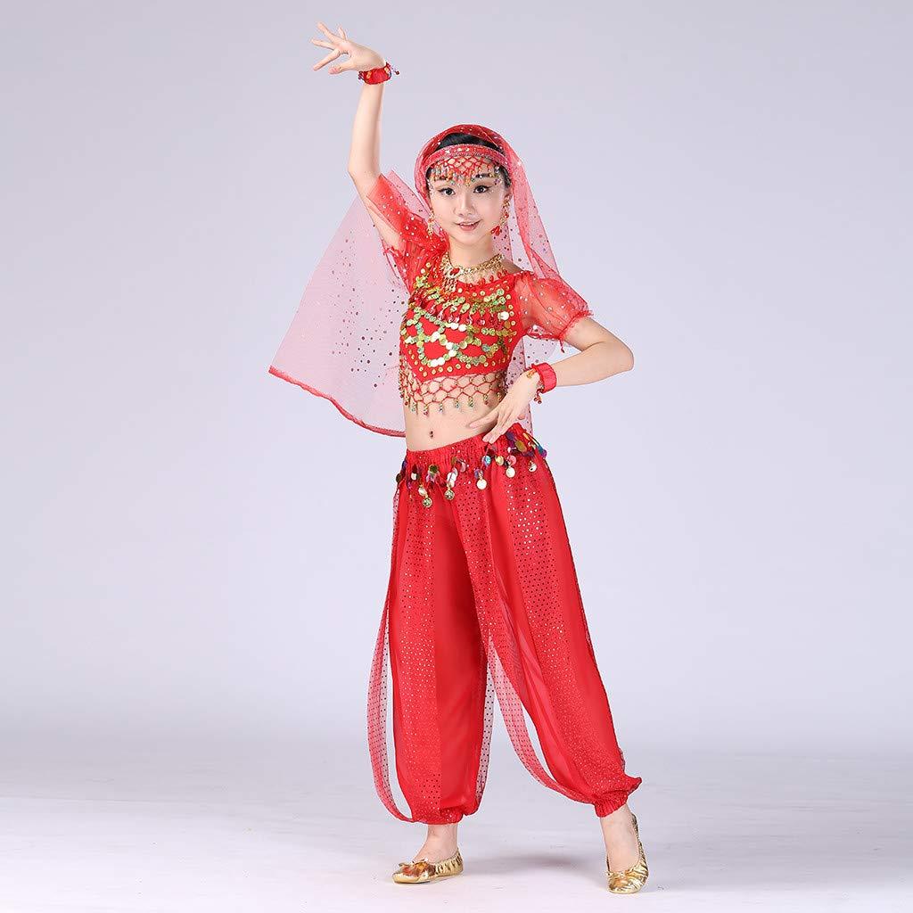 datework Handmade Children Girl Belly Dance Costumes Kids Belly Dancing Egypt Dance Cloth