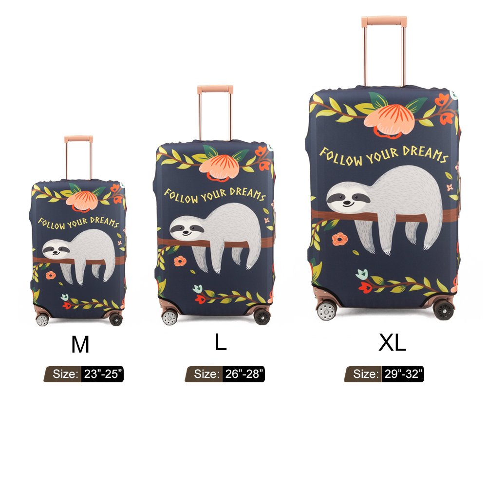 Madifennina Spandex Travel Luggage Protector Suitcase Cover Fit 23-32 Inch Luggage (sloth, XL) by Madifennina (Image #6)