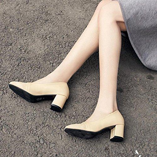 Sikye Punt Teen Ladise Schoenen Vrouwen Elegante Hoge Hak Mode Casual Schoenen Trouwschoenen Beige