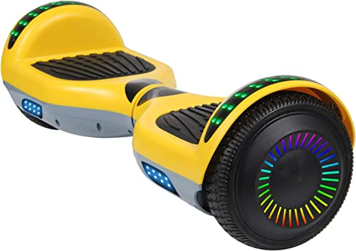 SISIGAD Hoverboard Self Balancing Scooter 6.5 Two-Wheel Self Balancing Hoverboard with Bluetooth Speaker and LED Lights Electric Scooter for Adult Kids Gift UL 2272 Certified – Pure Color Series