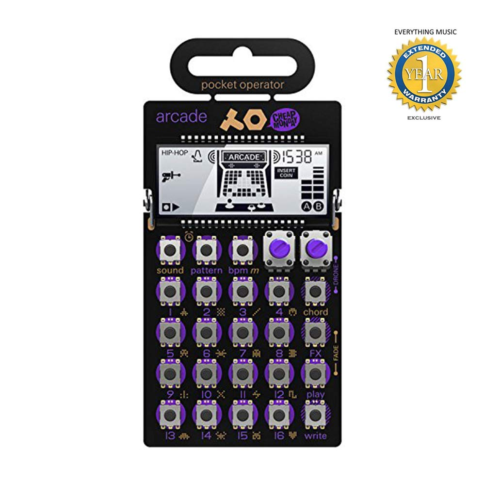 Teenage Engineering PO-20 Pocket Operator Arcade Synthesizer with 1 Year Everything Music Extended Warranty Free