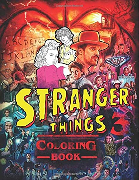 - Stranger Things 3 Coloring Book: JUMBO Coloring Book For Kids And Adults:  Miller, Hack: 9781086318418: Amazon.com: Books