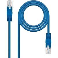 NANOCABLE 10.20.0400-BL - Cable de Red Ethernet RJ45 Cat.6 UTP AWG24, 100% Cobre, Azul, latiguillo de 0.5mts