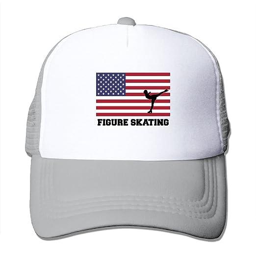 e6b4ddd0a52 HAT-HAT Figure Skating USA Flag Men Women Adjustable Snapback Hats Trucker  Cap