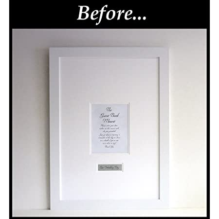 Wedding Guest Book Signing Frame - Contemporary alternative to the ...