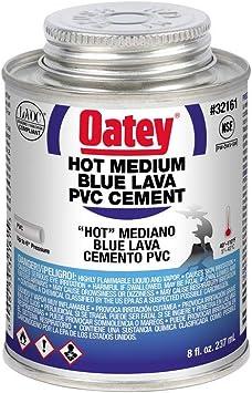 Oatey 32160 8 Oz Pvc Blue Lava Hot Medium Bodied Cement Up To 6 Diameter Plumbing Fixture Repair Supplies Amazon Com