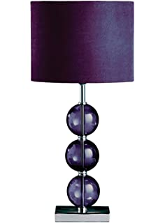 Premier housewares mistro purple floor lamp with 4 glass balls premier housewares mistro purple table lamp with 3 glass balls chrome base and faux suede shade aloadofball Gallery