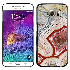 LECELL--Funda protectora / Cubierta / Piel For Samsung Galaxy S6 SM-G920 -- Pattern Geology Rock Red Nature --